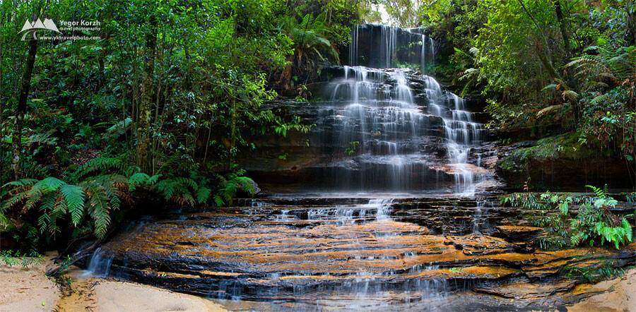 Junction Falls, Blue Mountains National Park, NSW, Australia