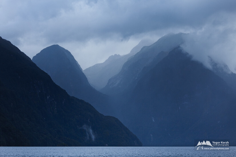 Cathedral Peaks, Lake Manapouri, South Island, New Zealand