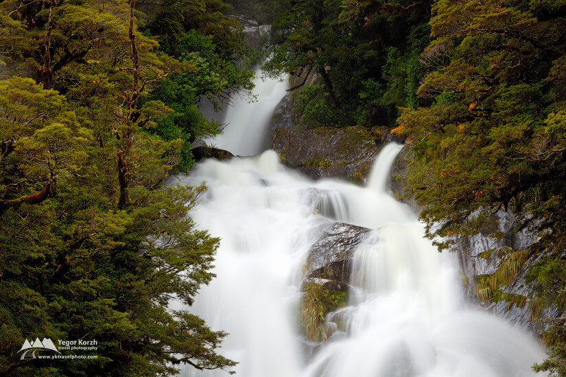 Fantail Falls, Mt Aspiring National Park, South Island, New Zealand