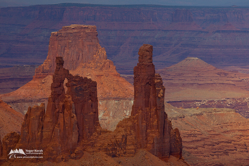 Monster and Airport Towers, Canyonlands National Park, Utah, USA