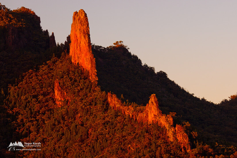The Breadknife from Macha Tor, Warrumbungle National Park, NSW, Australia